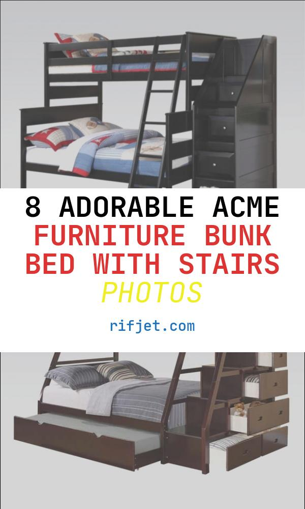 Acme Furniture Bunk Bed with Stairs Beautiful Acme Furniture Alvis Twin Full Bunk Bed with Storage