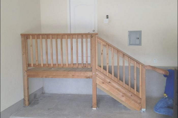 8 Lovable Build Garage Stairs Landing Stock