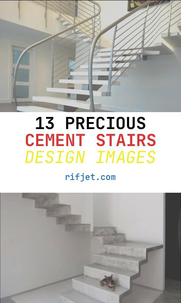 13 Precious Cement Stairs Design Images