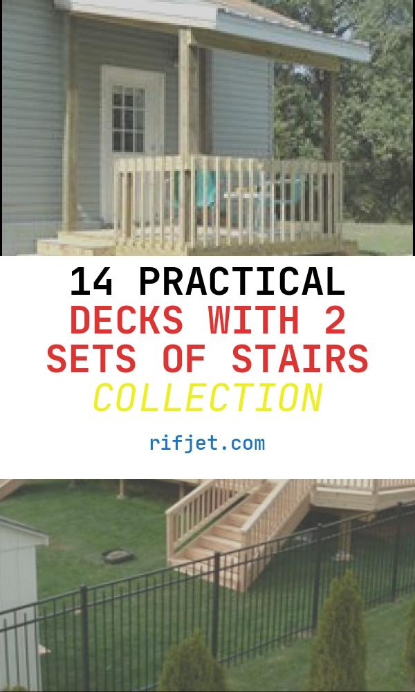 14 Practical Decks with 2 Sets Of Stairs Collection