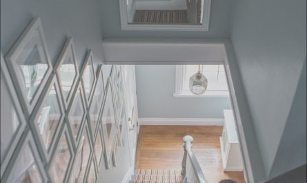 Decorating Above Stairs Inspirational Gallery Wall and Mirror Above Stairs Also Mirror Across