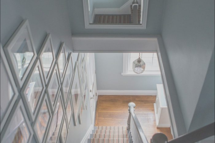 14 Gorgeous Decorating Above Stairs Stock