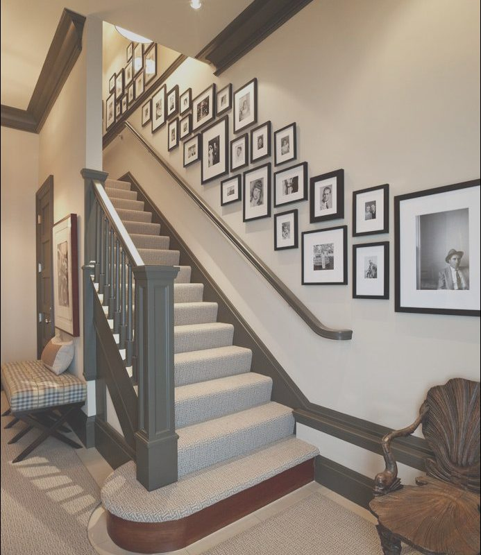 Decorating Ideas for Wall Going Up Stairs Fresh Love the Look Of This Wall Collage We Have One Going Up