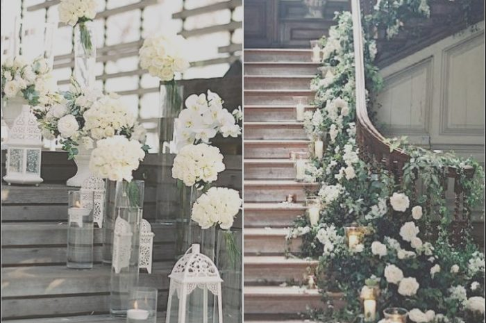 15 original Decorating Stairs for Wedding Images