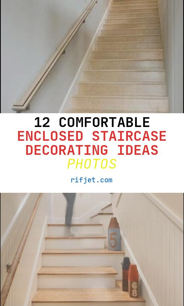 12 Comfortable Enclosed Staircase Decorating Ideas Photos