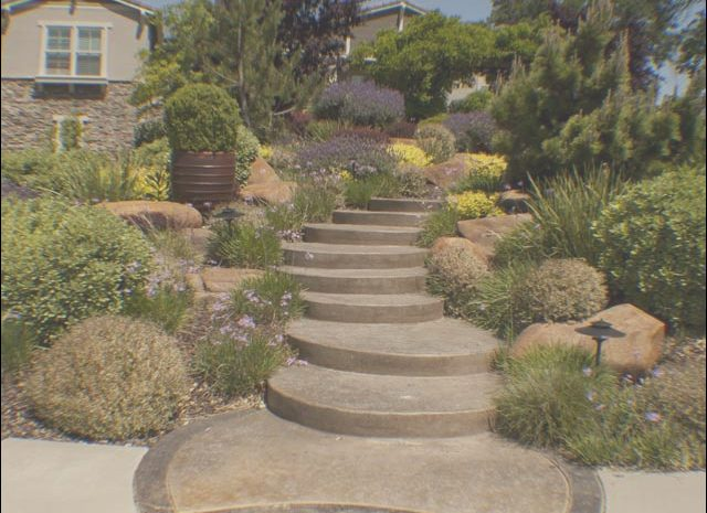 8 Cheap Front Yard Landscaping Ideas with Stairs Gallery