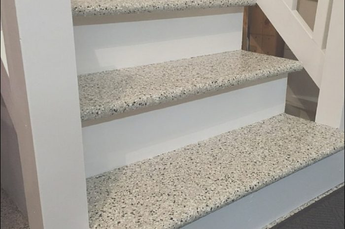 12 Incredible Garage Stairs Flooring Photos