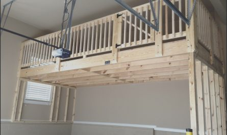 Garage Stairs Storage New Garage Storage Loft I Like the Door but where are the
