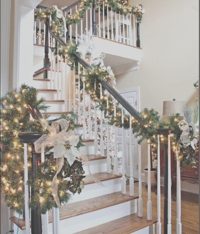 Garland On Stairs Ideas Best Of My Sister S Christmas Home 2013 southern Hospitality
