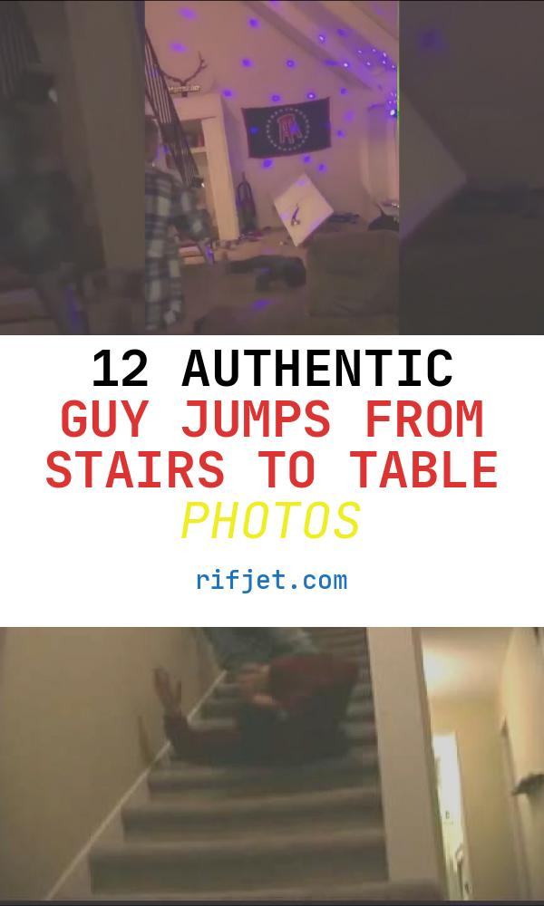 Guy Jumps From Stairs to Table Inspirational Guy Jumps Off Stairs Straight Into Table Head First