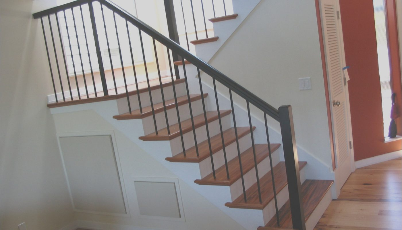 Interior Metal Stairs Cost Fresh Contemporary Stairs Tigerwood Treads Plain Wrought Iron