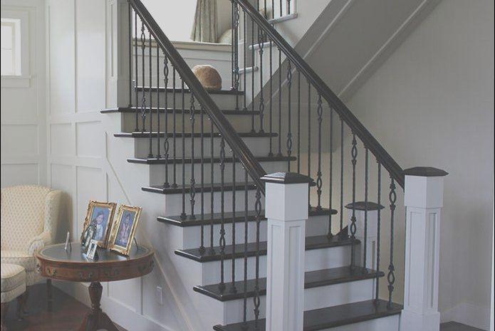 11 Simplistic Interior Stairs Railing Designs Image