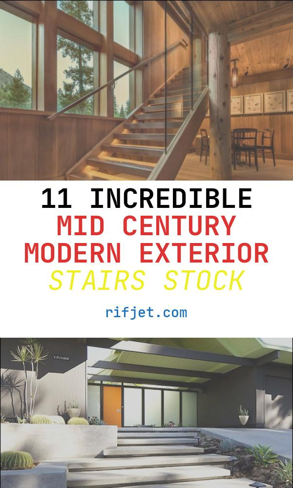 11 Incredible Mid Century Modern Exterior Stairs Stock