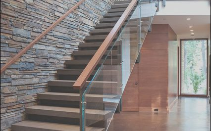 Modern Home Stairs Luxury Mountain Modern Digs Contemporary Staircase