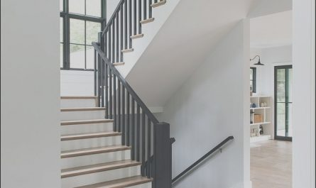Modern Stairs Black Rail New Black Railing Staircase Modern Farmhouse Staircase Black