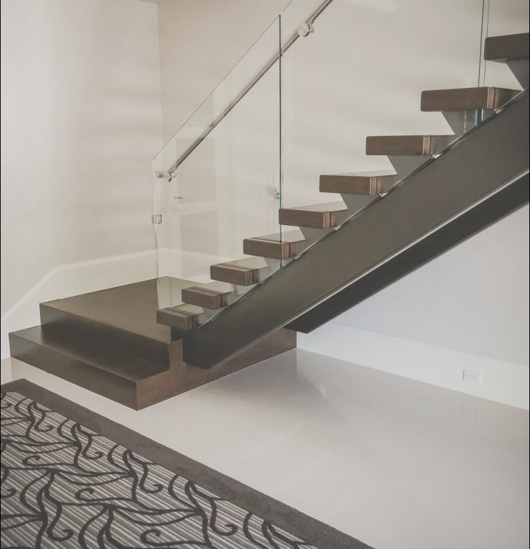 Modern Stairs with Glass Railing Unique Building A Modern Railing In 2016