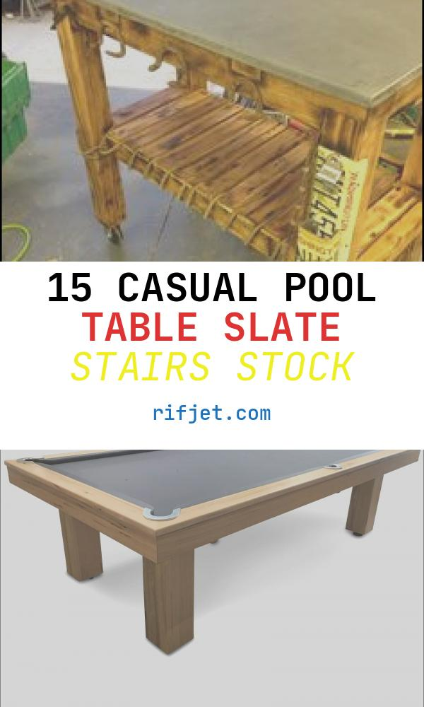 15 Casual Pool Table Slate Stairs Stock