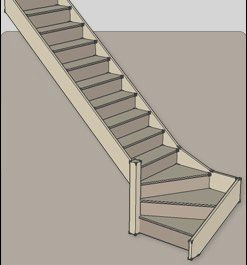 Quarter Turn Stairs Design New Quarter Turn Staircases Produced Flat Pack by Rapid