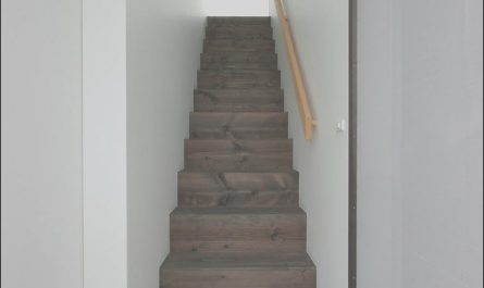 Railing Ideas for Narrow Stairs Best Of Simple Wooden Enclosed Staircase