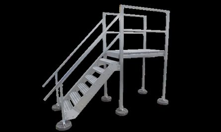 Roof Mounted Stairs Awesome Rooftop Stair Access Platform Unistrut