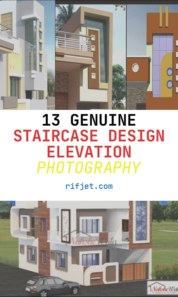 Staircase Design Elevation Beautiful Indian Staircase tower Designs
