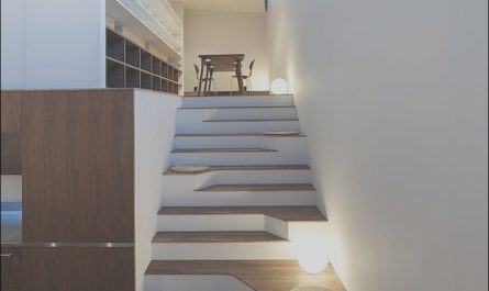 Stairs Contemporary Japan Unique asymmetric Staircase Incorporates Sitting areas