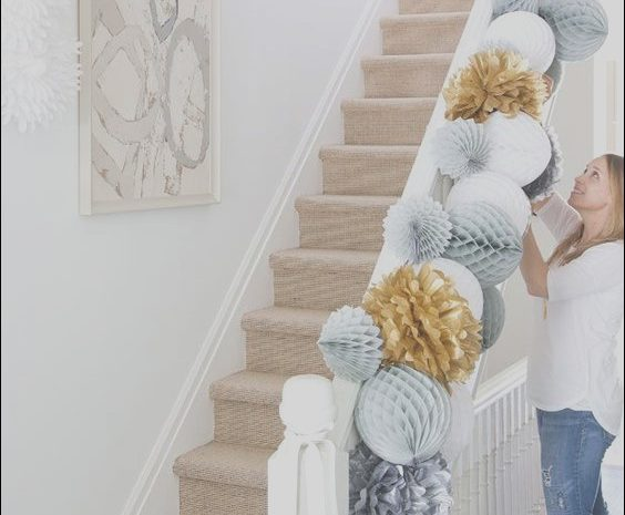 9 Elegant Stairs Decor for Party Images