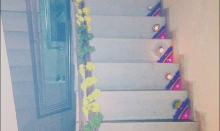 Stairs Decoration for Diwali Luxury Door Steps Rangoli & Rangoli Art by My Sister Preeti Karvir