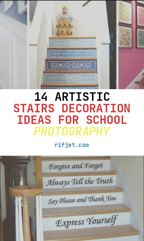 14 Artistic Stairs Decoration Ideas for School Photography