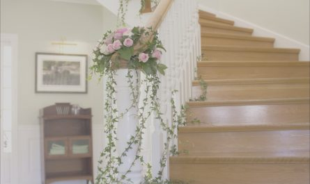 Stairs Decoration with Flowers Fresh Flower Floral Decor Decoration Garland Staircase Idea