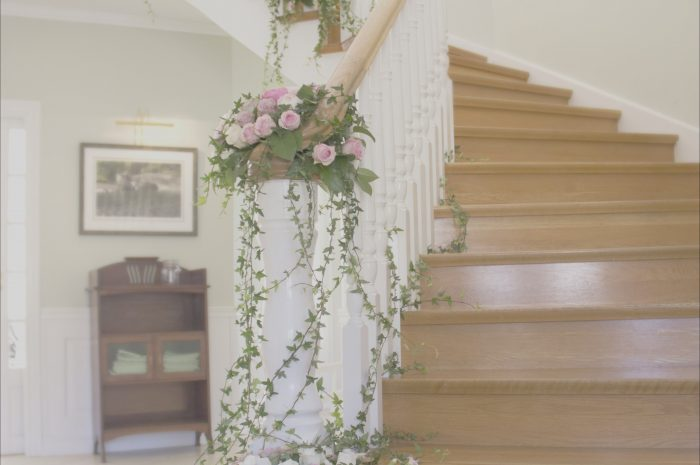 15 Excellent Stairs Decoration with Flowers Image