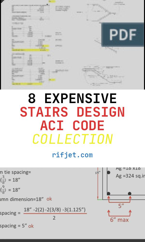 Stairs Design Aci Code New Concrete Stair Design Aci318 Stairs