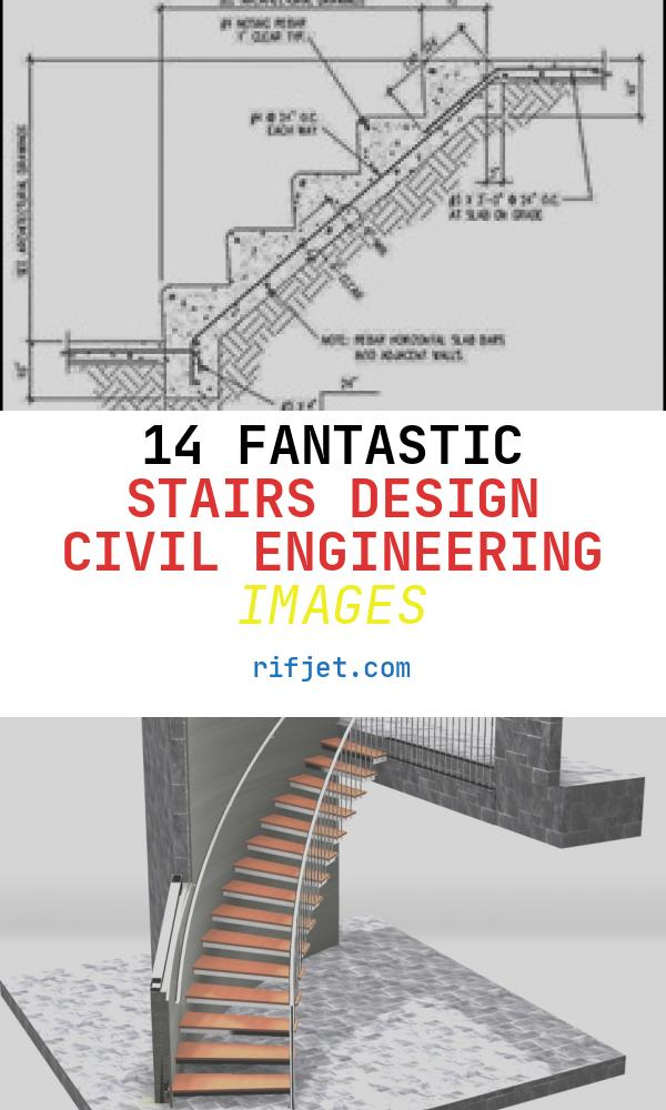 14 Fantastic Stairs Design Civil Engineering Images