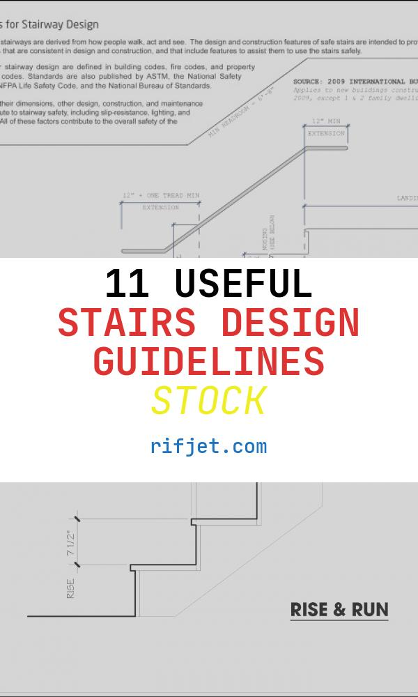 11 Useful Stairs Design Guidelines Stock