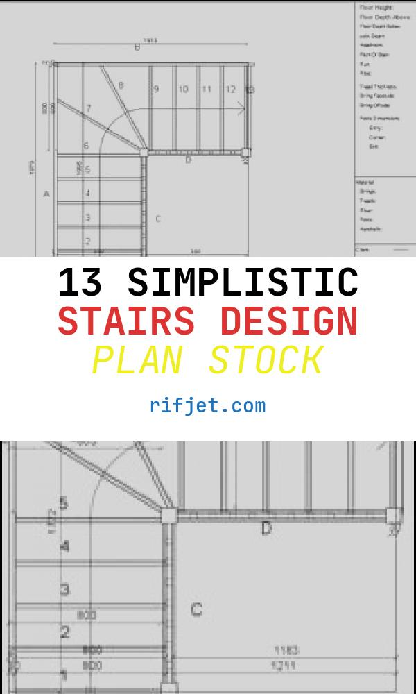 13 Simplistic Stairs Design Plan Stock