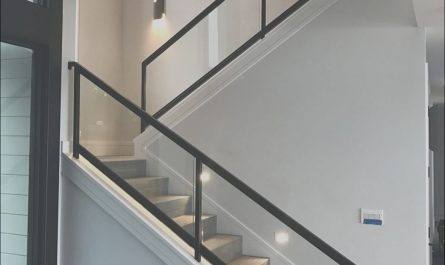 Stairs Railing Designs In Steel and Glass Luxury Interior Steel and Glass Railing On Stairs In Tiburon