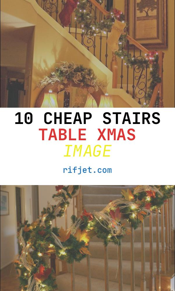 Stairs Table Xmas Inspirational Staircase Christmas Decorating Holidays