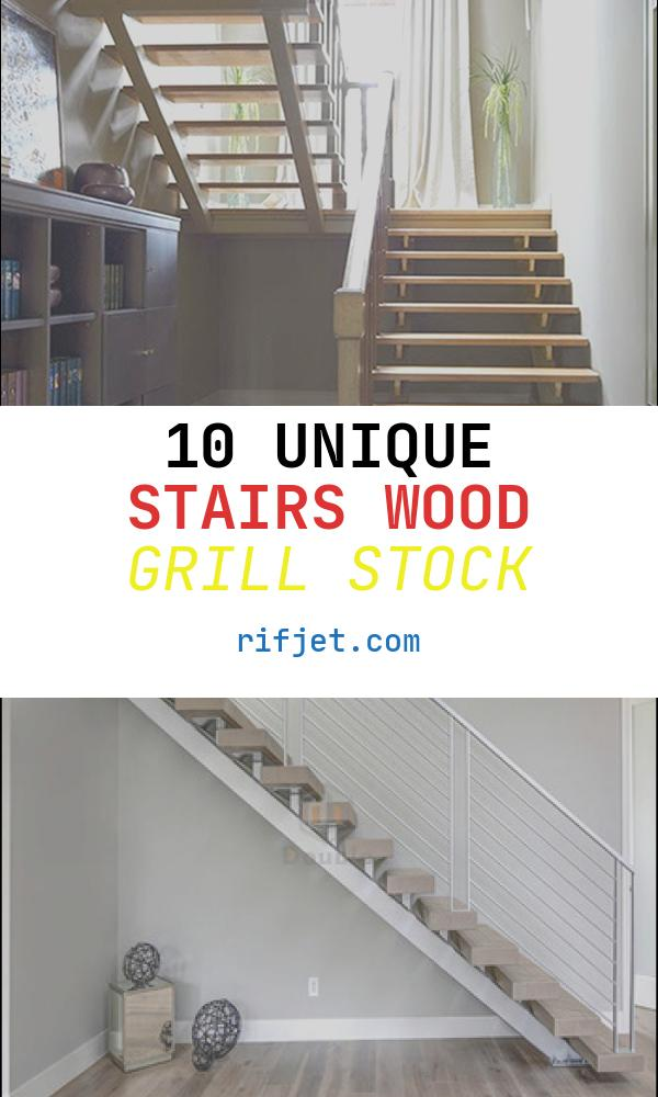 Stairs Wood Grill Awesome Modern Decorative Straight Wood Stairs with Safety Double