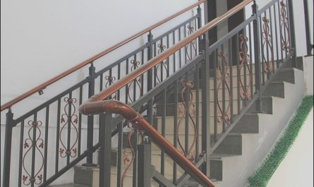 Stairs Wooden Zinc New Zinc Steel Stair Railing and Stairs Villas Outdoor