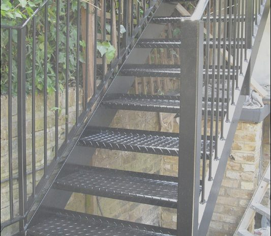 9 Natural Steel Stairs Design Stock