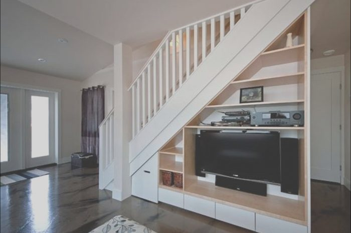10 Nice Under Stairs Tv Ideas Stock