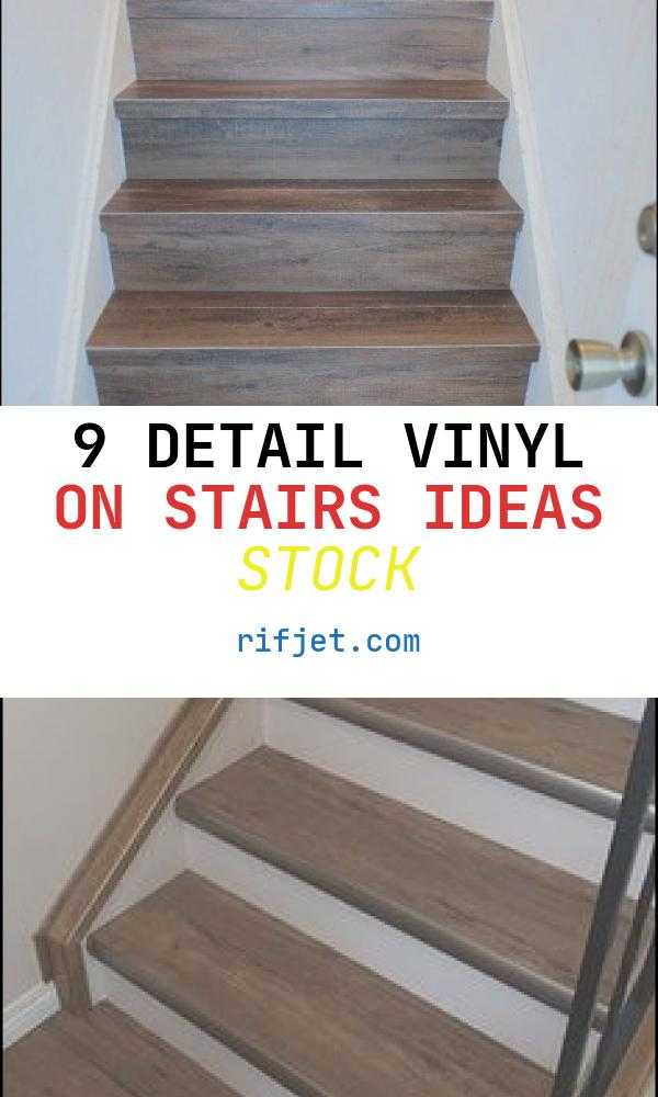 Vinyl On Stairs Ideas New Diy Faux Wood Tile Stairs A Bud In 2020