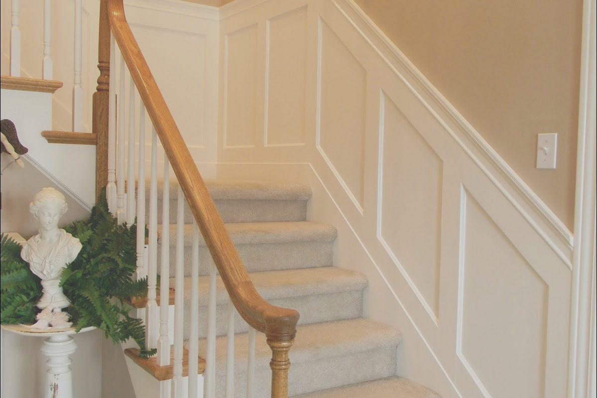 Wainscoting On Stairs Ideas Unique forever Decorating Stairwell Wainscoting