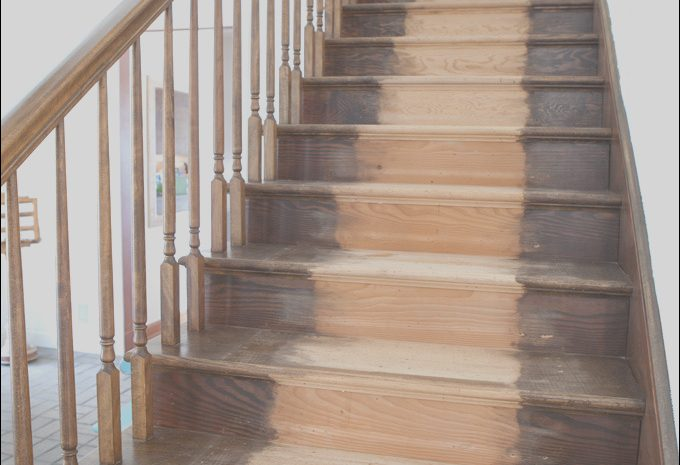 14 Staggering Wood Stained Stairs Photos