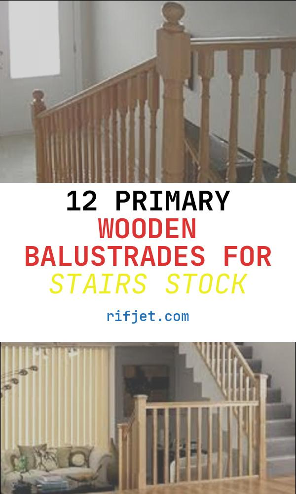 12 Primary Wooden Balustrades for Stairs Stock