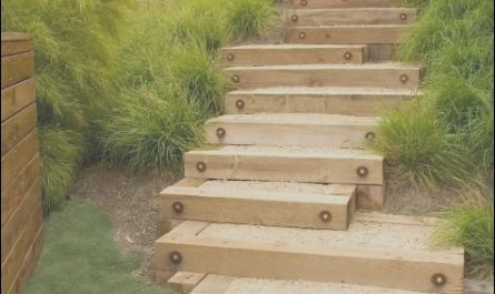 Wooden Garden Stairs Beautiful Garden Steps Wood Gravel
