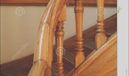 Wooden Stairs Handle New Detail A Stairs Handle Royalty Free Stock Image