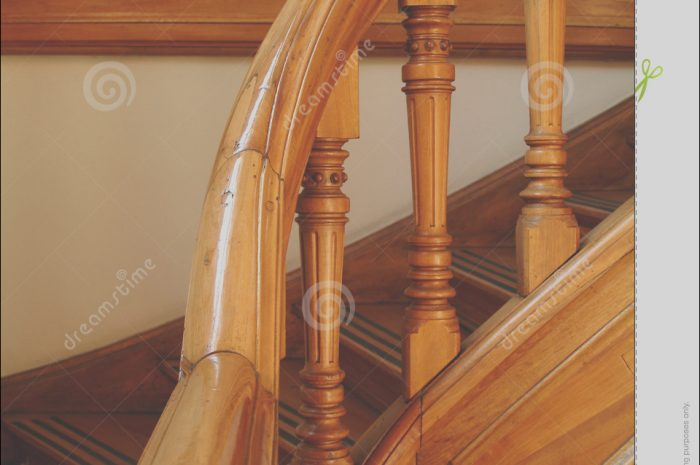 11 Detail Wooden Stairs Handle Image