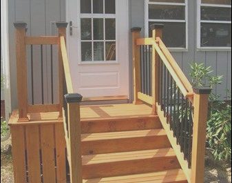 Wooden Stairs Home New Architecture Outside Steps for Mobile Home Front and