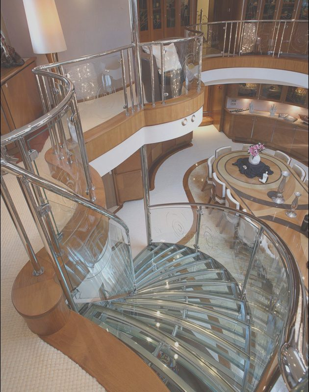 Yacht Interior Stairs Unique the Staircase On Superyacht Sherakhan